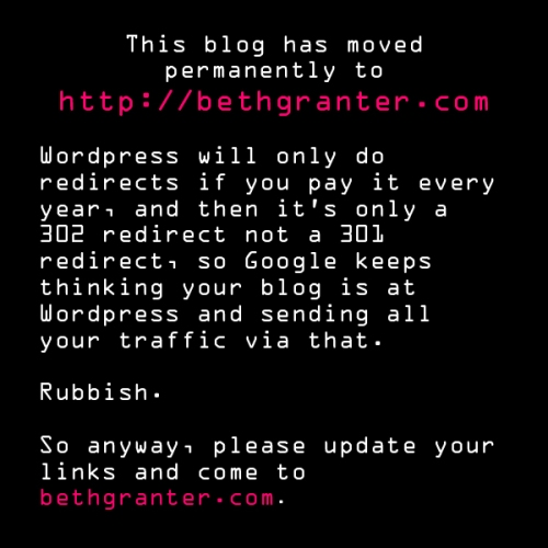 This blog has moved to bethgranter.com!
